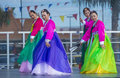 Las vegas chinese new year feb folk dancers perform at the celebrations held in nevada on february Stock Photo