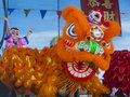 Las vegas chinese new year feb lion dance performance during the celebrations held in nevada on february Stock Photo