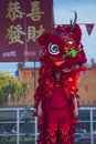 Las vegas chinese new year feb lion dance performer during the celebrations held in nevada on february Stock Image