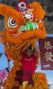Las vegas chinese new year feb lion dance performer during the celebrations held in nevada on february Royalty Free Stock Photos