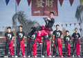 Las vegas chinese new year feb martial art performers at the celebrations held in nevada on february Stock Photos