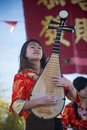 Las vegas chinese new year feb musician perform during the celebrations held in nevada on february Royalty Free Stock Photography