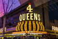 Las Vegas - Circa July 2017: The Four Queens Hotel and Casino. The Four Queens is one of the most iconic fixtures on Fremont St. I Royalty Free Stock Photo