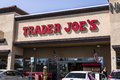Las Vegas - Circa July 2017: Trader Joe`s Retail Strip Mall Location. Trader Joe`s is a chain of specialty grocery stores in the U Royalty Free Stock Photo
