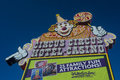 Las vegas circus circus oct the hotel and casino sign on october in features acts and carnival type Royalty Free Stock Photography
