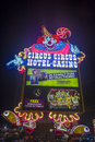 Las vegas circus circus sep the hotel and casino sign on september in features acts and carnival Royalty Free Stock Images