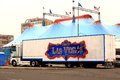 Las vegas circus truck in parking lot Stock Images