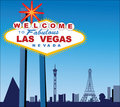 Las Vegas City and wolcome sign  Royalty Free Stock Images