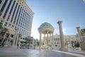LAS VEGAS, FEB 3: Caesar Palace Hotel Temple pool in Las Vegas, Royalty Free Stock Photo