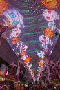 Las vegas fremont street experience oct the on october in nevada the is a pedestrian mall and Royalty Free Stock Photography
