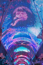Las vegas fremont street experience oct the on october in nevada the is a pedestrian mall and Stock Images