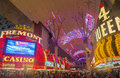 Las vegas fremont street experience sep the on september in nevada the is a pedestrian mall Stock Photography