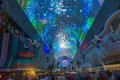 Las vegas fremont street experience sep the on september in nevada the is a pedestrian mall Royalty Free Stock Photos