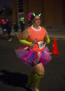 Las vegas glow run oct runner participates at the glowrun race in on october the glowrun is k annual race where the runners Stock Photo