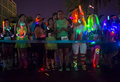 Las vegas glow run oct runners participates at the glowrun race in on october the glowrun is k annual race where the runners Royalty Free Stock Image