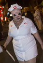 Las vegas halloween parade oct an unidentified participant at the annual held in nevada on october Stock Photo