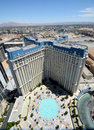 Las vegas hotel paris aerial view image of Royalty Free Stock Images