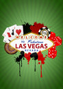 Las vegas illustration of with object casino Royalty Free Stock Photos