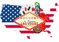 Las vegas illustration of signal with casino object Royalty Free Stock Image