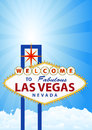 Las vegas illustration of signal with cloud and sunburst in background Stock Photography