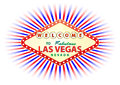 Las vegas illustration of signal with cloud and sunburst in background Stock Images