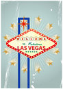 Las vegas illustration of signal with vintage background Royalty Free Stock Image