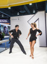 Las vegas january couple dancing launch new camera model nikon booth ces show held las vegas january ces world s leading consumer Royalty Free Stock Image