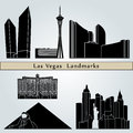 Las Vegas landmarks and monuments Royalty Free Stock Photos