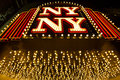 Las vegas nevada september new york new york hotel nv casino entrance in photo taken at boulevard at night usa Royalty Free Stock Image