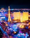 Las Vegas Night View Stock Photo