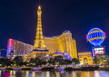 Las vegas oct the paris hotel and casino on october in nevada usa it includes a half scale foot m tall replica Royalty Free Stock Photo