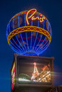 Las vegas paris hotel june the and casino on june in nevada usa it includes a half scale foot m tall replica Royalty Free Stock Photos