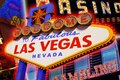 Las vegas sign and casino backgrounds Royalty Free Stock Photography