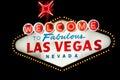 Las Vegas sign at night Royalty Free Stock Photo