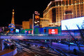 Las Vegas Street night scene Royalty Free Stock Photo