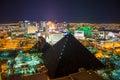 Las Vegas Strip by night Royalty Free Stock Photo