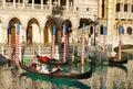 Las Vegas, Venetian Gondolas, Tourist Attractions Royalty Free Stock Photo