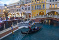 Las vegas venetian hotel jan the and replica of a grand canal in on january with more than suites it s one of the most Stock Photos