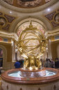 Las vegas venetian hotel nov the interior of the casino in on november with more than suites it s one of the most famous Stock Photography