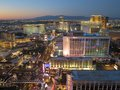 Las vegas view of from high up in the air Royalty Free Stock Photography