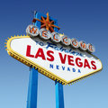 Las Vegas welcome sign. Royalty Free Stock Images