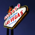 Las Vegas welcome sign. Royalty Free Stock Photos