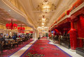 Las vegas wynn hotel nov the the interior of and casino on november in the has rooms and opened in Stock Photography