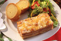 Lasagna on a dinner plate Stock Photography
