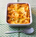 Lasagne baking dish Royalty Free Stock Photography