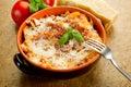 Lasagne with ragu Stock Photos