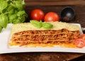 Lasagne Royalty Free Stock Photo