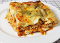 Lasagne verde slice Royalty Free Stock Images
