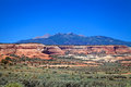 Lasal mountain vista a scenic landscape with the mountains in the background near moab utah Royalty Free Stock Image