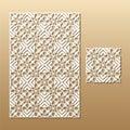 Laser cut lace pattern